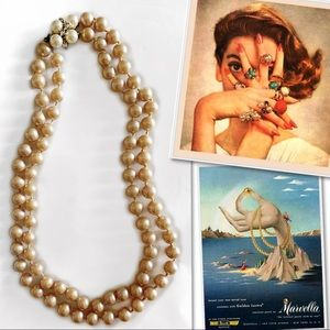 MARVELLA STERLING SILVER FAUX PEARL NECKLACE